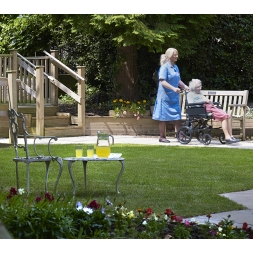 Our accessible gardens at Maesbrook Care/Nursing Home in Shrewsbury, Shropshire